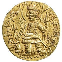 KUSHAN: Vasu Deva I, ca. 191-230+, AV stater (7.99g). EF