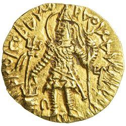 KUSHAN: Kanishka II, ca. 226-240, AV dinar (7.82g). EF-AU