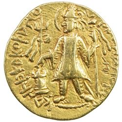 KUSHAN: Kanishka II, ca. 226-240, AV dinar (7.84g). VF