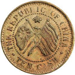 HUNAN: Republic, AE 10 cash, year 11 (1922). EF