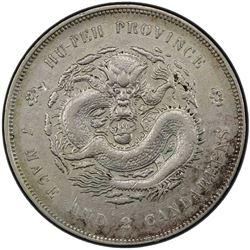 HUPEH: Kuang Hsu, 1875-1908, AR dollar, ND (1895-1907). PCGS EF