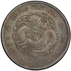 HUPEH: Kuang Hsu, 1875-1908, AR dollar, ND (1895-1907). PCGS AU