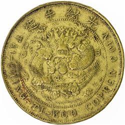 KIANGSU: Kuang Hsu, 1875-1908, brass 20 cash, CD1906. VF-EF