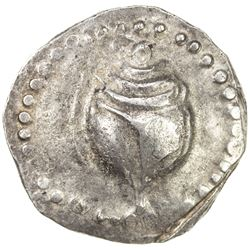 HAMSAVATI: 5th century, AR unit (9.88g) Very rare variety with tentacles and annulets.