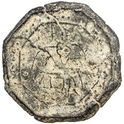 TENASSERIM-PEGU: Anonymous, 17th-18th century, octagonal cast tin large coin (70.63g). VF