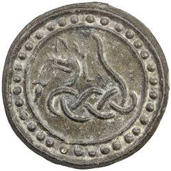 TENASSERIM-PEGU: Anonymous, 17th-18th century, cast tin large coin (70.60g). UNC