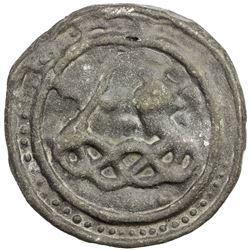 TENASSERIM-PEGU: Anonymous, 17th-18th century, cast tin large coin (77.56g). EF