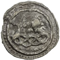 TENASSERIM-PEGU: Anonymous, 17th-18th century, cast tin large coin (74.70g). VF-EF