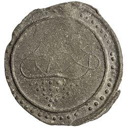 TENASSERIM-PEGU: Anonymous, 17th-18th century, cast large tin coin (37.74g). EF