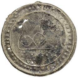 TENASSERIM-PEGU: Anonymous, 17th-18th century, cast large tin coin (22.49g). EF