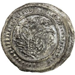 TENASSERIM-PEGU: Anonymous, 17th-18th century, cast large tin coin (48.70g). EF