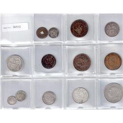 CAMBODIA: LOT of 13 coins, retail value $400