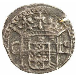CEYLON (PORTUGUESE): AR tanga (2.25g), 1640. VF