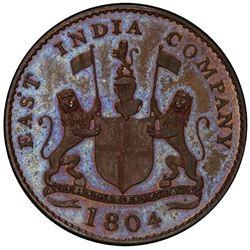 SUMATRA: AE keping, 1804/AH1219. PCGS PF64