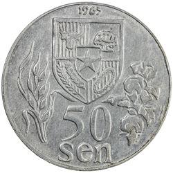 INDONESIA: Republic, 50 sen, 1965. EF