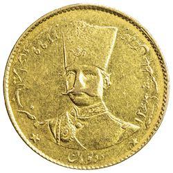 IRAN: Nasir al-Din Shah, 1848-1896, AV 2 toman, Tehran, AH1299. EF