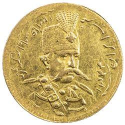 IRAN: Muzaffar al-Din Shah, 1896-1907, AV toman (2.89g), Tehran, AH1324. EF