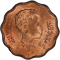 IRAQ: Faisal II, 1939-1958, AE 4 fils, 1943-I/AH1362. PCGS MS64