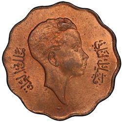 IRAQ: Faisal II, 1939-1958, AE 10 fils, 1943-I/AH1362. PCGS MS64