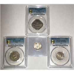 IRAQ: LOT of 4 coins from the Kingdom of Iraq