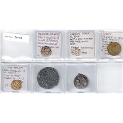 ISRAEL & JUDAICA: LOT of 6 medals & tokens, retail value $350