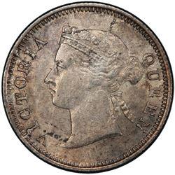 STRAITS SETTLEMENTS: Victoria, 1867-1901, AR 5 cents, 1871. PCGS AU55