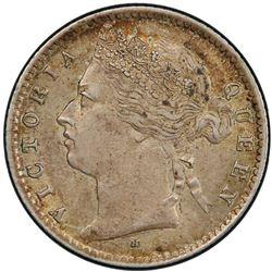 STRAITS SETTLEMENTS: Victoria, 1867-1901, AR 10 cents, 1879-H. PCGS MS62