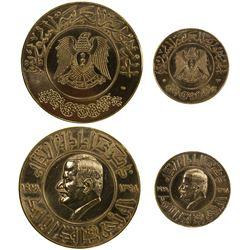 SYRIA: Syrian Arab Republic, 2-medal gold set, 1978/AH1398