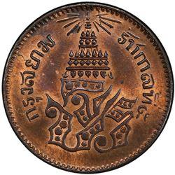 THAILAND: Rama V, 1868-1910, AE att, CS1236 (1874). PCGS MS65
