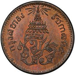 THAILAND: Rama V, 1868-1910, AE 1/2 att, CS1236 (1874). PCGS MS64