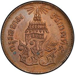 THAILAND: Rama V, 1868-1910, AE 2 att, CS1236 (1874). PCGS MS64