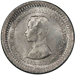 THAILAND: Rama V, 1868-1910, AR 1/8 baht (fuang), ND (1876-1900). PCGS MS64