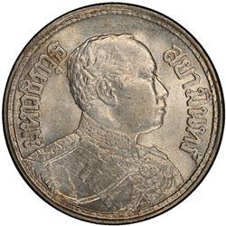 THAILAND: Rama VI, 1910-1925, AR 1/2 baht, BE2463 (1920). PCGS MS64