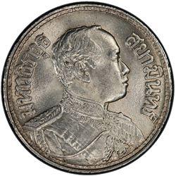 THAILAND: Rama VI, 1910-1925, AR baht, BE2459 (1916). PCGS MS64