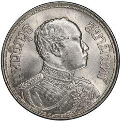 THAILAND: Rama VI, 1910-1925, AR baht, BE2459 (1916). PCGS MS63