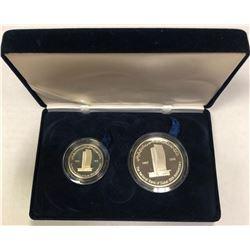UNITED ARAB EMIRATES: 2-coin proof set, 1998. PF