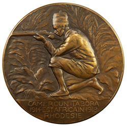 BELGIUM: AE medal (105.9g), 1918 (1926). UNC