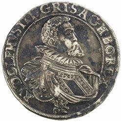 BOHEMIA: Rudolf II, 1572-1612, AR thaler, 1604. VF