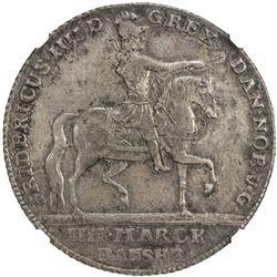 DENMARK: Frederik IV, 1699-1730, AR krone, 1723. NGC AU55