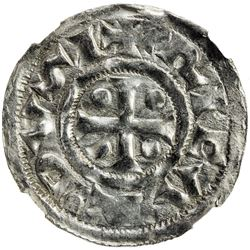 NORMANDY: Richard I, the Fearless, 943-996, AR denier (1.21g), Rouen mint. NGC MS63