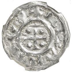 NORMANDY: Richard I, the Fearless, 943-996, AR denier (0.89g), Rouen mint. NGC MS62