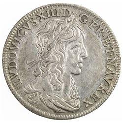 FRANCE: Louis XIII, 1610-1643, AR jeton (6.01g), ND. EF