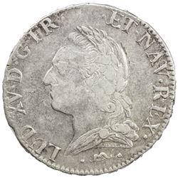FRANCE: Louis XV, 1715-1774, AR ecu, 1772-N. EF