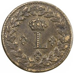 FRANCE: Louis XVIII, 1814-1815, AE decime, 1815-BB. EF