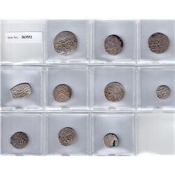 GEORGIA: Islamic, 17th-18th century, LOT of 8 Safavid and 2 Afsharid silver coins struck at Tiflis