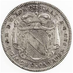 BADEN-DURLACH: Karl Friedrich, 1738-1811, AR 60 kreuzer, 1740. EF