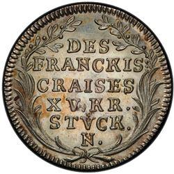 FRANCONIAN CIRCLE: AR 15 kreuzer, Nurnberg, 1726. PCGS MS64