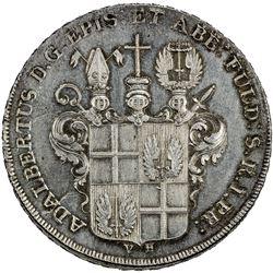 FULDA: Adalbert III von Harstall, 1788-1803, AR thaler, 1795. UNC