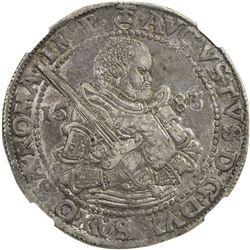 SAXE-ALBERTINE LINE: August, 1553-1586, AR thaler, Dresden, 1583. NGC AU53