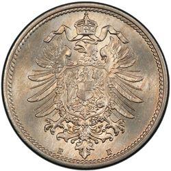 GERMANY: Kaiserreich, 10 pfennig, 1874-E. PCGS MS65